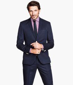 linen blend blazer   H&M US