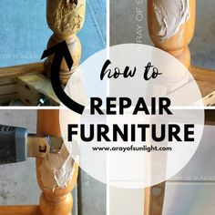 You searched for Repair to damage - A Ray of Sunlight Diy Furniture Repair, Diy Home Repair, Paint Furniture, Furniture Refinishing, Desk Makeover, Furniture Makeover, Wood Repair, Picture Frame Molding, Barn Wood Projects