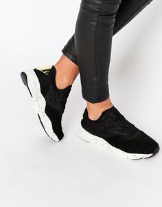 96aaded758a20 Reebok Black Furylite Slip On With Speckled Sole at asos.com