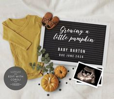 Thanksgiving Pregnancy Announcement, Cute Baby Announcements, Pregnancy Announcement Photos, Pumpkin Baby Announcement, Fall Maternity, Baby Planning, Baby In Pumpkin, Rainbow Baby, Future Baby