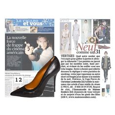 """Malone Souliers in @lefigarofr  Neuf comme un 31 """"Dizzy heights. What shoe is THE shoe for shaping your leg and lengthening the silhouette? Purists swear by black only, legs perched high and avoiding long dresses... Chic and simple, 'Emmanuelle' Malone Souliers (12) Black Nappa and Elaphe (608 €, www.malonesouliers.com)."""" - Le Figaro Et Vous  #MaloneSouliers #LeFigaro #DizzyHeights #Emmanuelle #StilettoHeels #luxury #womens #shoes #fashion"""