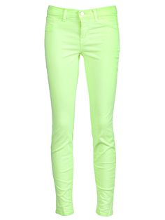 J BRAND  SKINNY LEG MID-RISE JEAN  farfetch from Atrium available from farfetch.com •ƒƒ• - cute spring color! they have a bunch of these at neimans