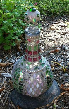 Mosaic Bottle/ Genie Bottle by janesmosaics on Etsy, $115.00