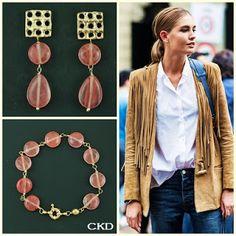 Pulseira e brincos com cristal cherry!! www.ckdsemijoias.com.br