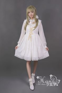 Constellation Gold Stamping Long Sleeve One Piece - $58.99 : Soufflesong,An Indie Lolita Fashion ,Gothic Vintage Brand