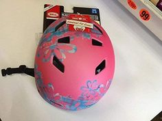 Buy Bell Sports Injector Child Razor MultiSport Helmet, Pink, Floral Print Design, 10 Vents for a Cool Ride Ages
