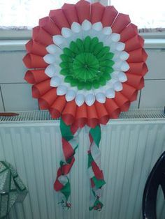 KOKÁRDA NAGYBAN Happy Independence Day India, Independence Day Decoration, Paper Flowers Craft, Flower Crafts, Paper Crafts, Diy And Crafts, Crafts For Kids, Arts And Crafts, Art N Craft