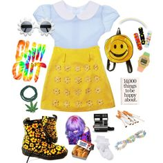A fashion look from February 2013 featuring peter pan dress, Kawasaki and white ruffle socks. Browse and shop related looks. Colourful Outfits, Retro Outfits, Cute Outfits, Madonna Fancy Dress, 90s Fashion, Fashion Outfits, Stage Outfits, Character Outfits, Types Of Fashion Styles
