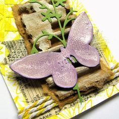 Elves In The Attic: Mixed Media Butterfly ATCs
