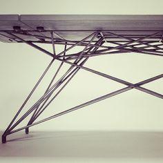 Concrete Table - original design by Brandon Gore www.hard-goods.com