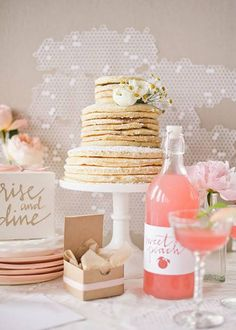 Why not a breakfast pancake party? Stack this pancakes...BRIDES Houston: Spectacular Spots for a Boozy Bachelorette Brunch