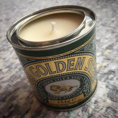 Introducing the latest bespoke candle By Laura. Golden Syrup and Vanilla scented. Almost good enough to eat!