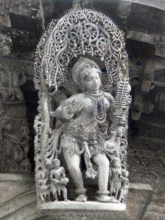 Apsara - Temple Sculpture from Belur, Karnataka, India (Photographic Print - Unframed)