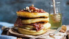 Amerikanske pannekaker med bacon og pecan_P1190012