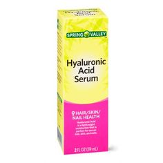 Spring Valley Hyaluronic Acid Serum, 2 Oz Image 7 of 8 Best Exfoliating Face Scrub, Exfoliate Face, Skin Care Routine Steps, Skin Care Tips, Drugstore Skincare, Skincare Routine, Walmart Makeup