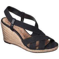 Women's Merona® Earline Low Wedge Espadrille - Black I have these in navy :) Low Wedge Espadrilles, Black Espadrilles, Shoes Heels Boots, Wedge Shoes, Graduation Shoes, Comfortable Wedges, Low Wedges, Womens Shoes Wedges, Fashion Shoes