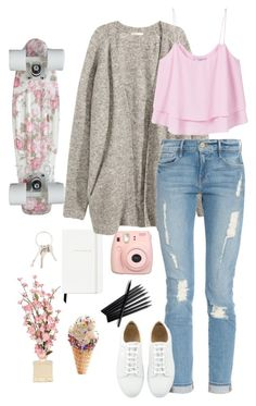 """""""State of Grace"""" by domeenica ❤ liked on Polyvore featuring Kate Spade, H&M, Frame Denim, MANGO, Fujifilm and Givenchy"""