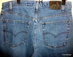 Men's Levi's Silver Tab Baggy Denim Jeans W36 X L32 Medium Wash Blue 100% Cotton #SilverTab #BaggyLoose