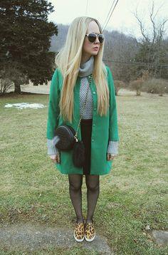 6ks Jacket, Whyred Sweater, The Line & Dot Skirt, Nasty Gal Bag, Steve Madden Shoes