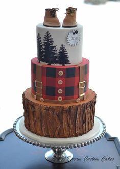 Lumberjack Cake by Elisabeth Palatiello #cakedesigns