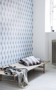 Vintage wall paper Lauren and daybed - both from Retro Villa