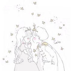 Cute Couple Wallpaper, Cute Couple Art, Cute Love Memes, Art Prompts, Cute Kawaii Drawings, Cute Art Styles, Cute Chibi, Cute Illustration, Easy Drawings