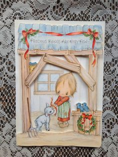 Betsey Clark Vintage Christmas Card