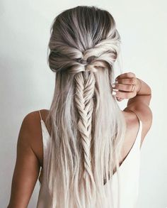 Braided. ↠ #style #fishtailbraid #feminine #braided #shopmelba #inspo #summer16