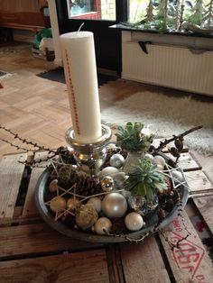 Årets kalenderlys-dekoration - julen 2013 / Christmas decoration - Christmas 2013