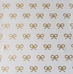 Gold Bows Fabric