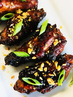 Sweet and Sticky Thai Chicken Wings have the perfect sweet and spicy combo, they can be baked or smoked, and are always a hit! Buffalo Chicken Lasagna, Chicken Lasagna Rolls, Thai Chicken, Chicken Wing Recipes, Teriyaki Chicken, Tandoori Chicken, Chicken Wings, Smoked Whole Chicken, Stuffed Whole Chicken