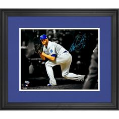 "Wade Davis Kansas City Royals Fanatics Authentic 2015 MLB World Series Champions Framed Autographed 11"" x 14"" 2015 World Series Spotlight Photograph"