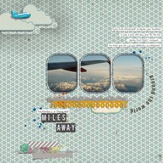 Love this travel scrapbook layout! What a clever use of photos!