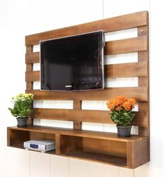 This is one of unique pallet ideas as it is a useful and huge option for the lounge. This will give the string grip to your LCD and look attractive. You will also add some flowers pots for enhancing its beauty. This will change your simple TV stands into trendy and latest look.