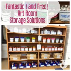 An art room this fantastic with all recycled and up-cycled containers! Video shows you how!