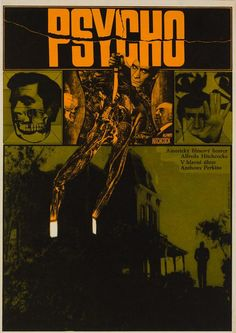 Get the Top Horror Movies list that will definitely scare the crap out of you. Don't forget to watch these insanely scary movies. Save these old horror films. Horror Movie Posters, Polish Movie Posters, Horror Films, Cinema Posters, Horror Art, Hitchcock Film, Alfred Hitchcock, Norman Bates, Poster Boys