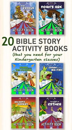 Kindergarten Bible story activity books | Now available on Amazon! Joseph Activities, Creation Activities, Bible Activities, Sabbath School Lesson, Daniel And The Lions, Understanding The Bible, Preschool Bible, Bible Coloring Pages, Bible Lessons For Kids