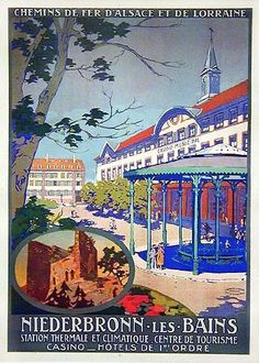 Alsace Vosges du Nord Niederbronn Kister 1920