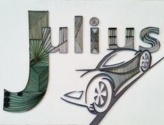 Quilling Custom Name Wall Hanging Julius von HalcyonCreativeGifts