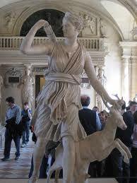Artemis - Diana of Versailles in Louvre
