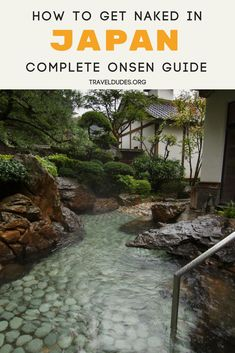 A complete beginner's onsen guide for visitors in Japan. Travel to this island nation for a glimpse into their traditional culture. Find the perfect hot spring bath to relax and rejuvenate your mind and body in Tokyo or rural locations. Learn the etiquette on clothes and tattoos in onsens. Whether in Osaka, Kyoto, or Okinawa, visiting an Onsen is one of the top things to do in Japan. | Travel Dudes Travel Community #Japan #Osaka #Kyoto #Okinawa #Onsen #Asia #Travel #TravelTips
