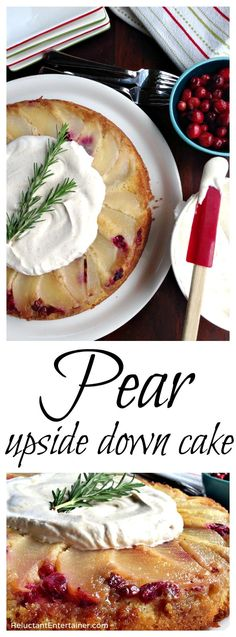 Pear Upside Down Cake Recipe