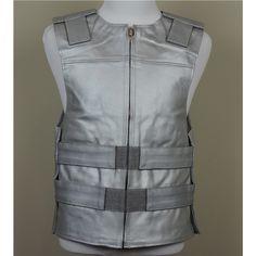 Baby Blue Leather S Ladies Bulletproof Style Motorcycle Vest