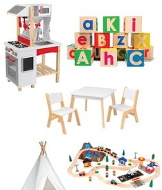 This is just a 1/3 of our toy round up on today's #CyberMonday deals post the blog! $75 Kidkraft kitchen $48 for a 61 piece train set Uncle Goose blocks for less than $20? Have mercy!! Catch them  our fave Cyber Monday clothing picks too on Small Fry. Double tap this one to have all these toy deals sent to your inbox via  @liketoknow.it www.liketk.it/205Nx #liketkit by smallfryblog
