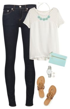 Mint & Cream by steffiestaffie on Polyvore featuring polyvore, mode, style, H&M, rag & bone/JEAN, Tory Burch, White House Black Market, Kate Spade, Decree and Henri Bendel