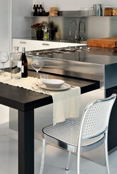 Monoblocco Pull-out tables for kitchens, Elmar