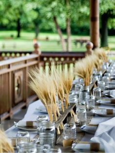 Rustic Reclaimed Wood Centerpieces 16