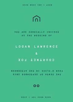Customisable wedding invite in Topsy Turvy: Email or print yourself #weddinginvites #weddingstationery #homemadewedding #DIYwedding #budgetwedding #contemporarywedding