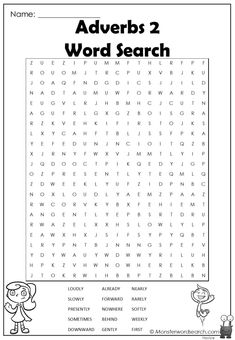 nice Adverbs 2 Word Search