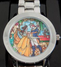 La Bella Y La Bestia Exclusivo Reloj Glass Para Dama Disney - $ 899.00